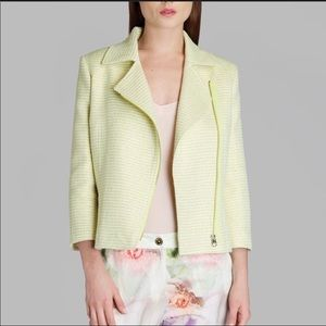 Lime- Green cropped Jacket